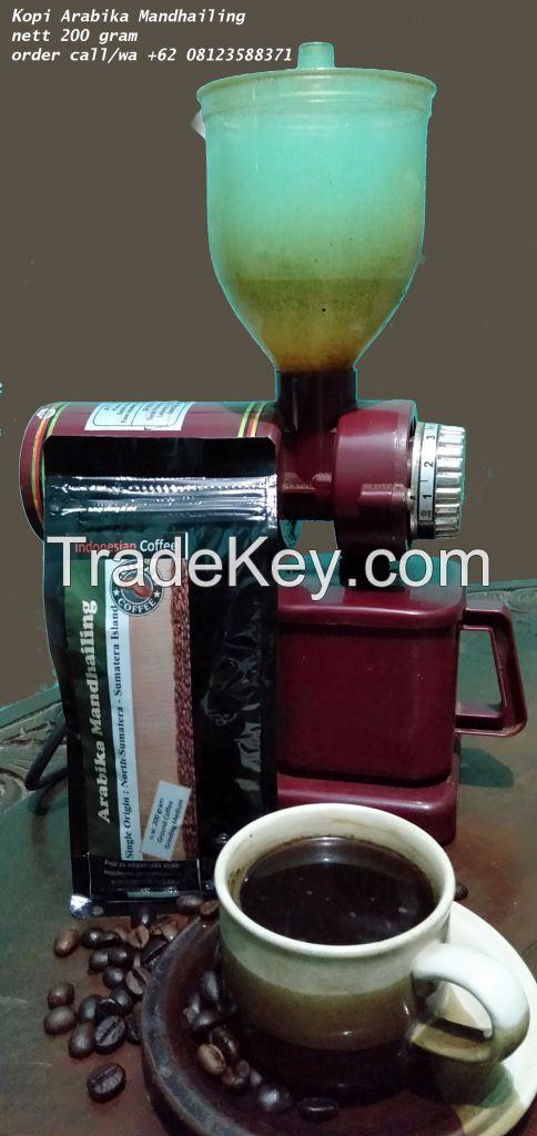 Indonesia High Premium Coffee _ Arabica Ground Coffee 200 gram