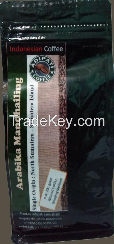 Ground Coffee Arabica Mandhailing by Indonesia high premium coffee