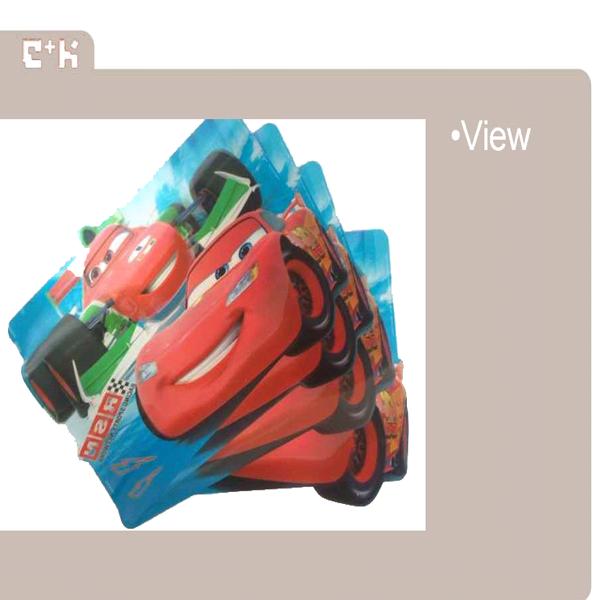 colorful 3D lenticular placemat