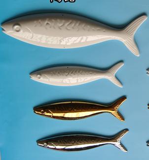 FSL-3 Ceramic Fish Shaped Wall Sticker Wall Hanging Room Divider