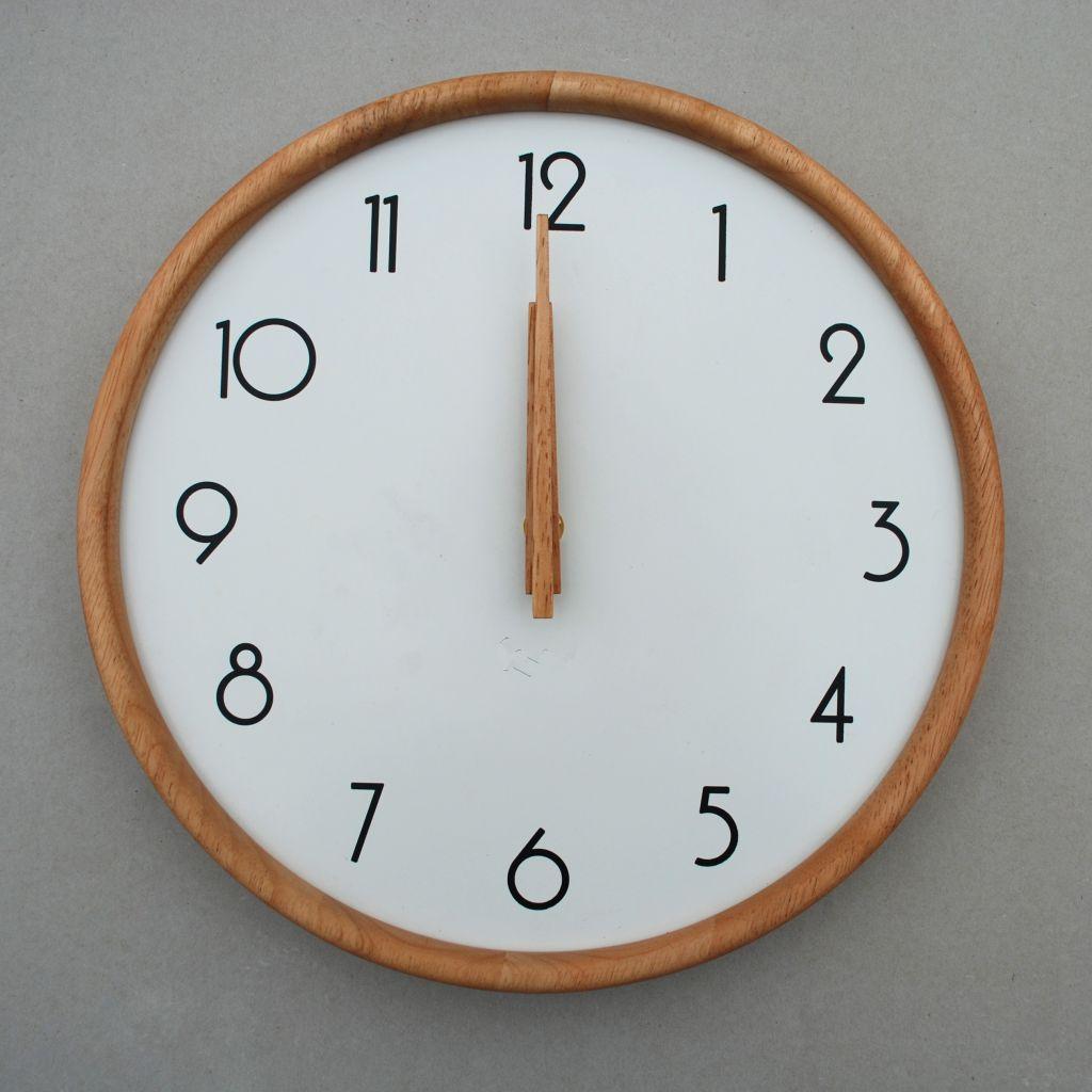 DM-21 White Wooden Wall Clock Wooden Wall Clock