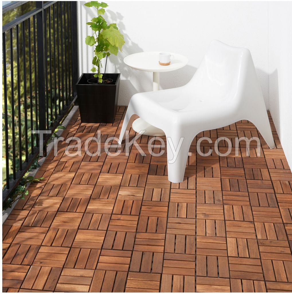 Deck tiles, garden solid teak wood flooring with plastic base - Wood Floring