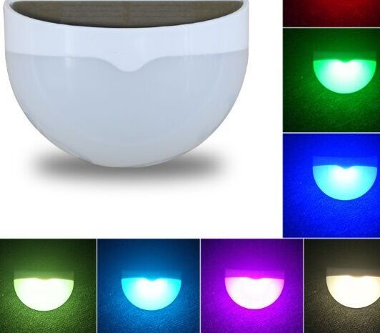 Colorful Wall Mounted LED Solar Light Outdoor Waterproof Garden Lawn Fence Landscape Lamp
