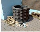 wood plastic composites flower pots
