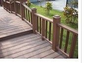 wood plastic composites handrails