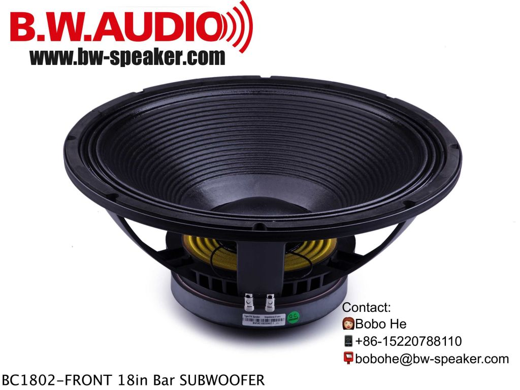 BC1801-China Manufacturer PA speaker 18inch Subwoofer 1000Watts RMS power