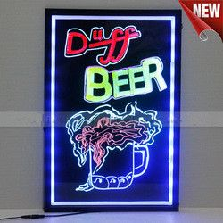 2014 hot sale new style hign quality waterproof erasable LED advertising board/led writing board/