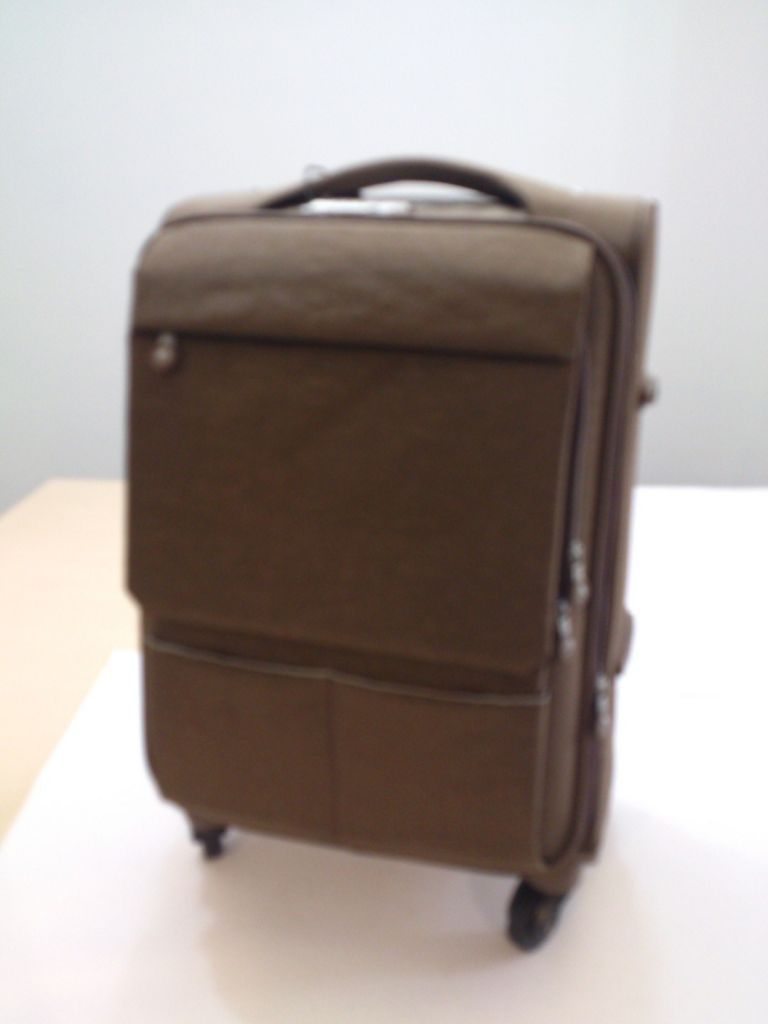 Brand or customized quality soft wheel 360 degree spinner luggage
