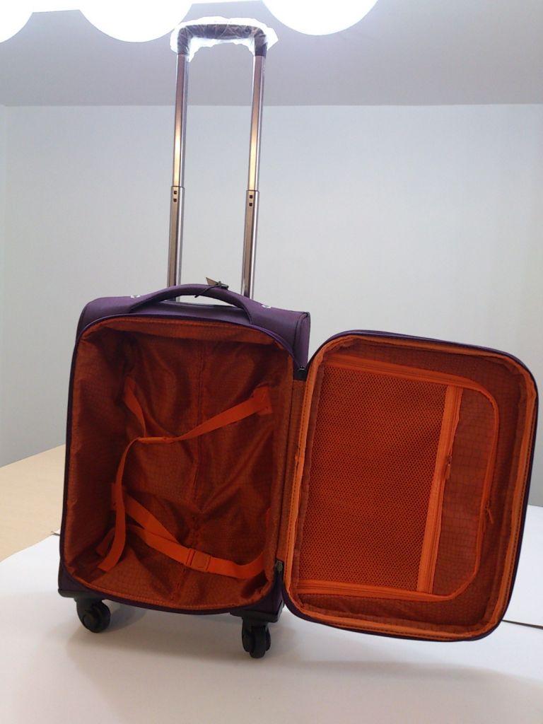 Hot sale nylon size 20 24 28 trolley luggage
