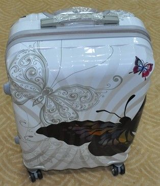 spinner lightweight fashionable Butterfly print pc trolley luggage