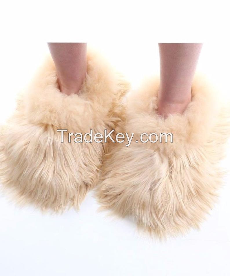 Alpaca Slippers - Fur slipper