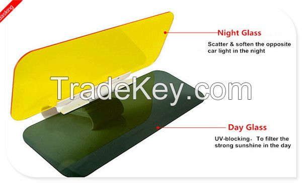Summer essential Day and Night Anti-glare Car Sun Visor Driving Mirror