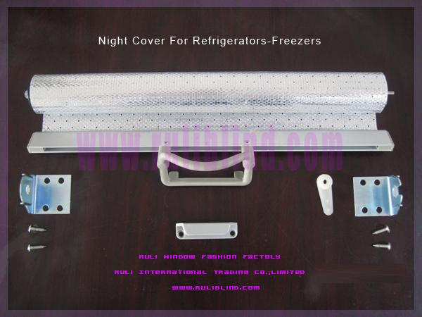 supermarket fridges night blinds (woven aluminum fabric)