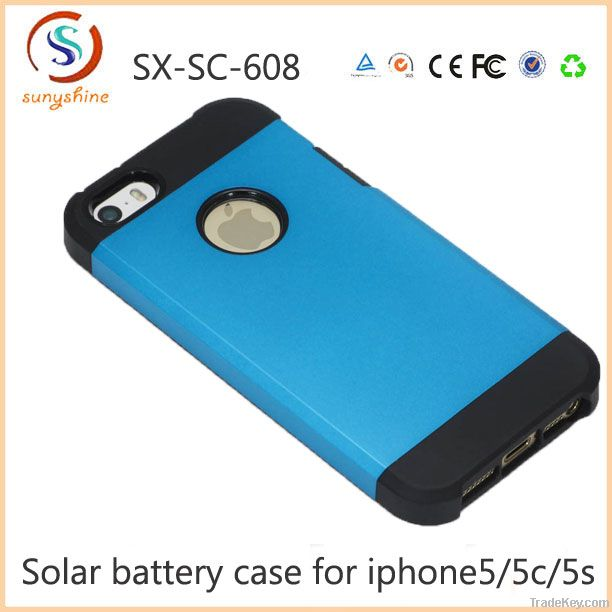 2600mah solar charger battery case for iphone5s