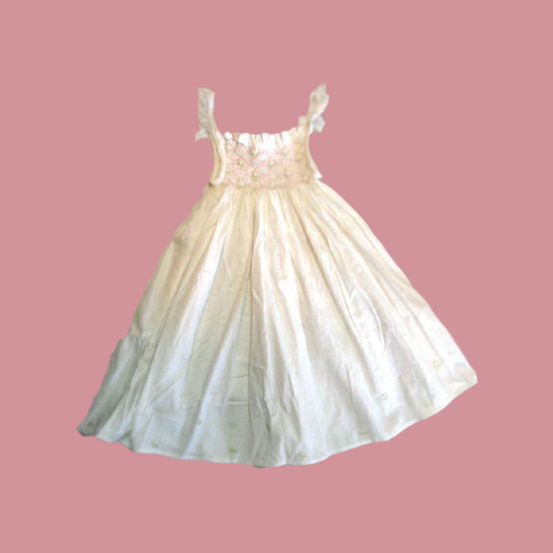 Lovely smocked dresses for children with hand smocking and embroidery