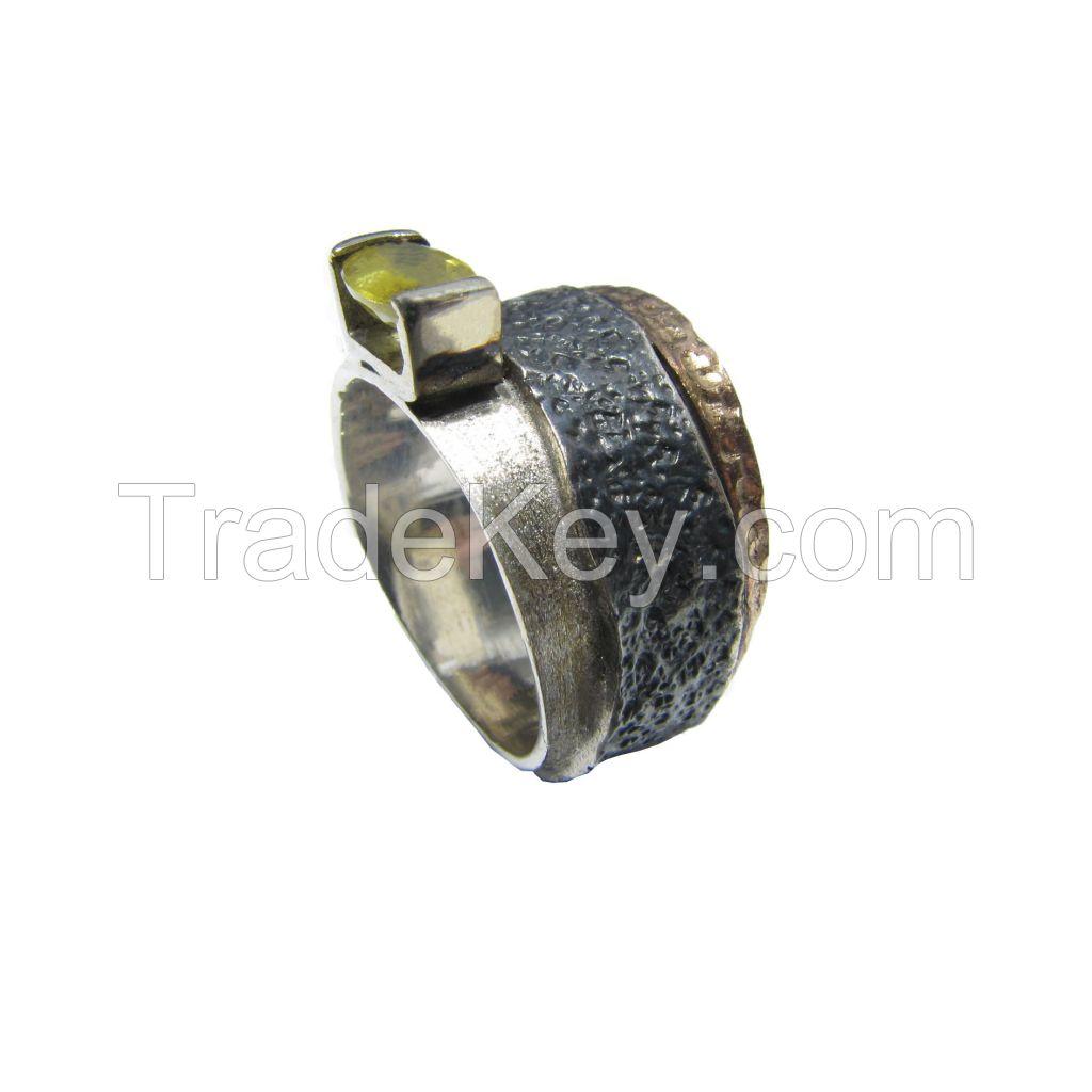 Sapphire Gemstone Silver Ring