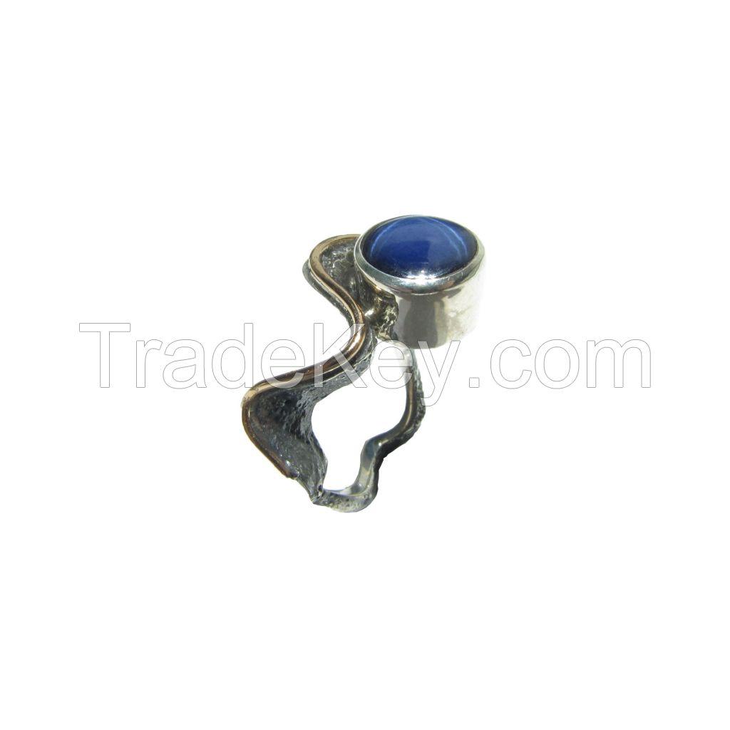 Star Sapphire Gemstone Silver Ring