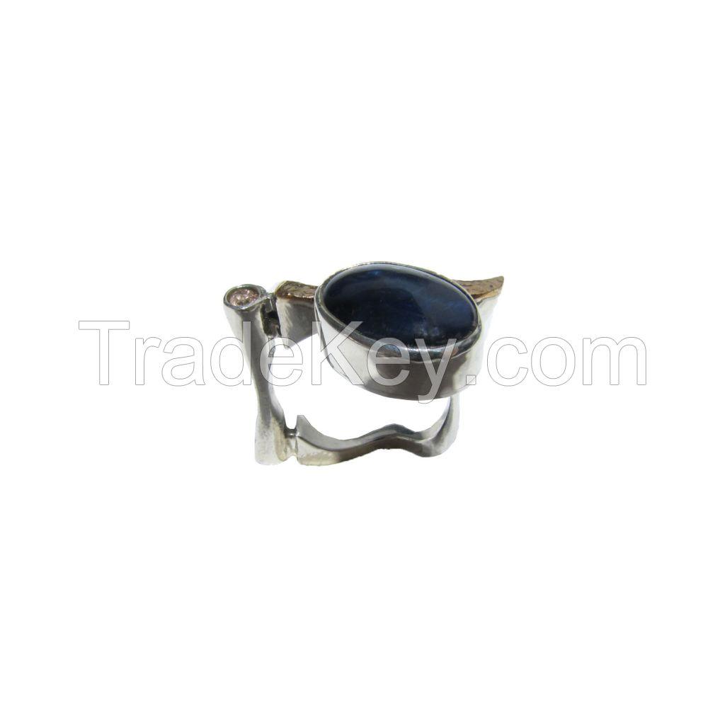 Kyanite Gemstone Silver Ring