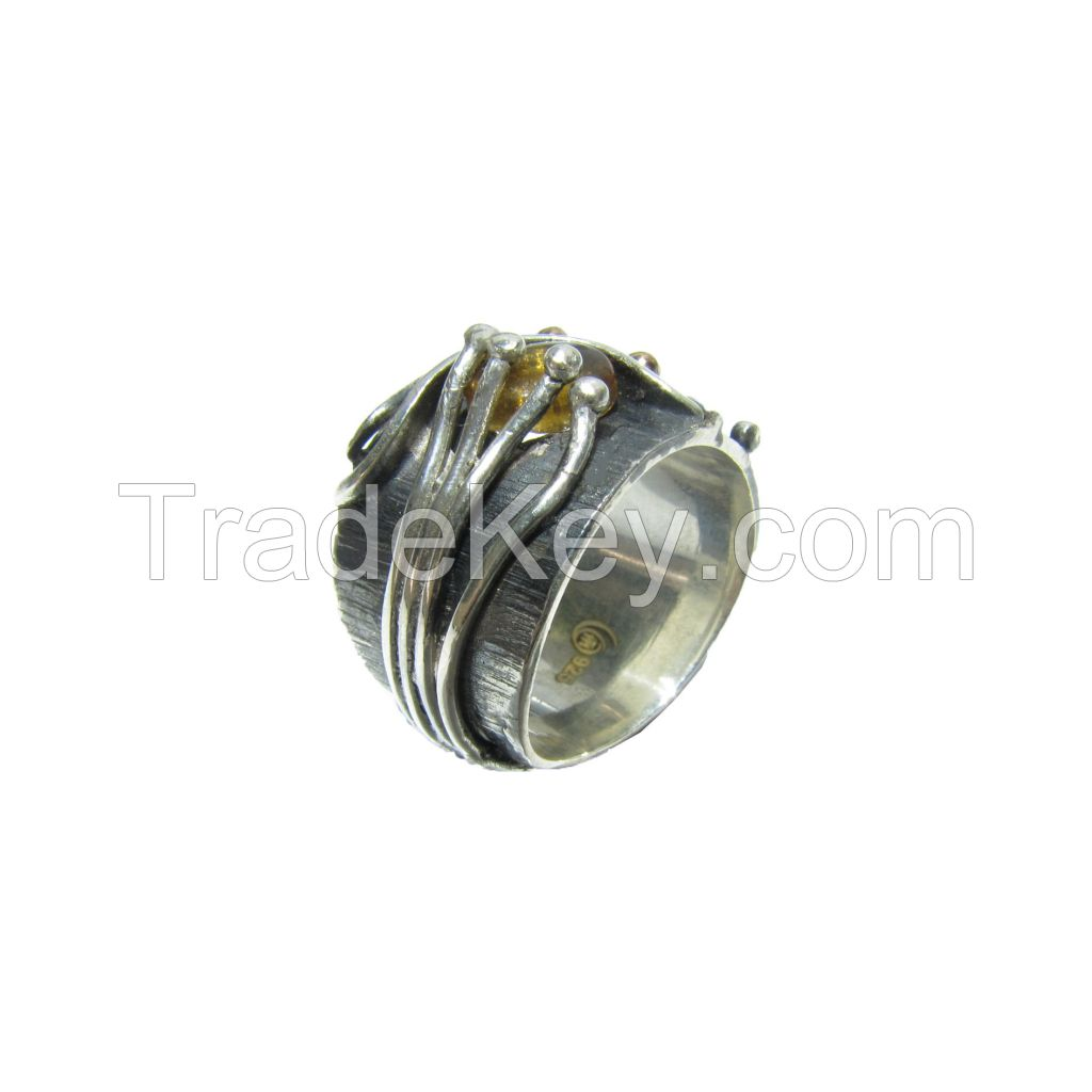 Tourmaline Gemstone Silver Ring