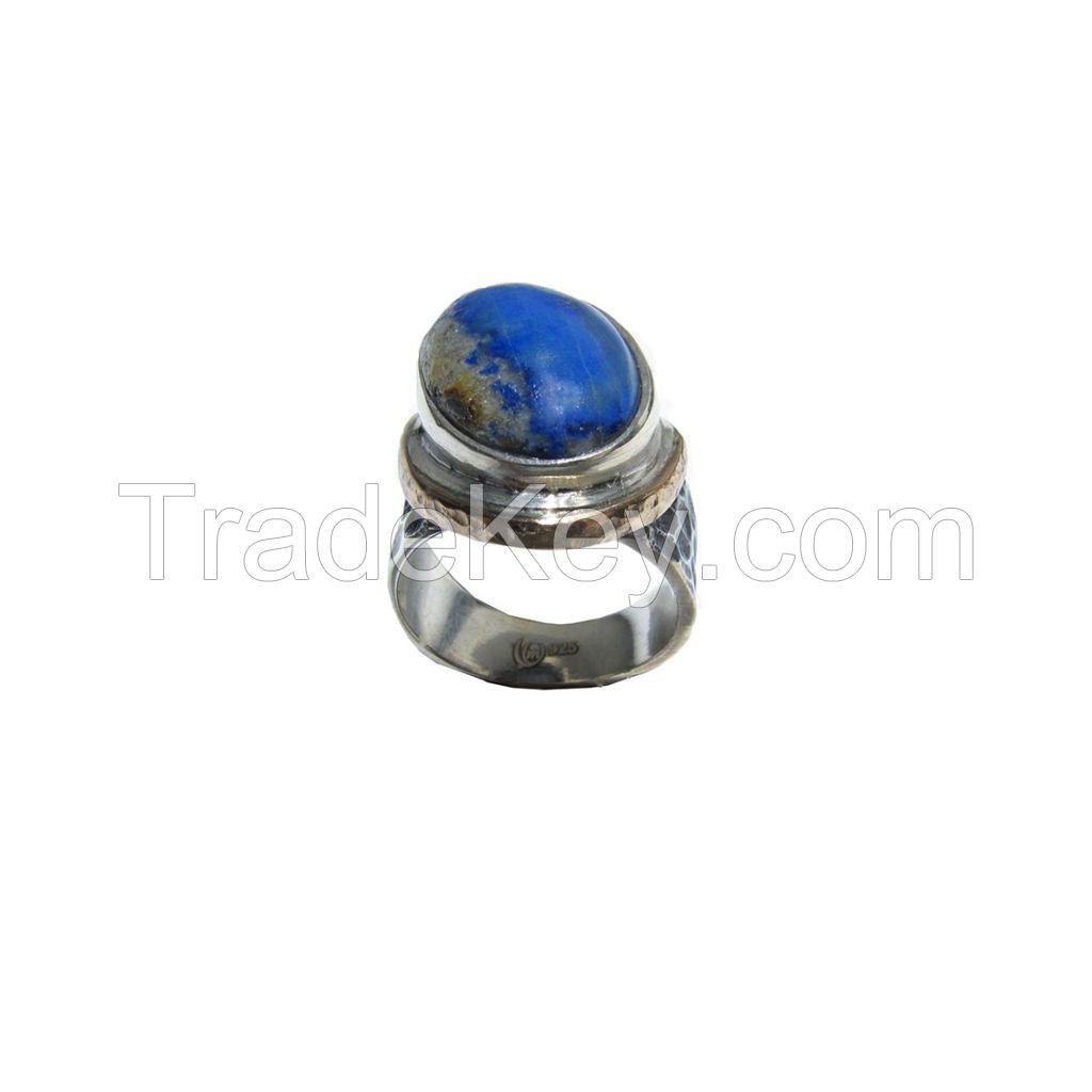Lapis Gemstone Silver Ring