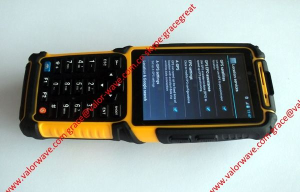 Handheld with barcode scanner for inventory control system