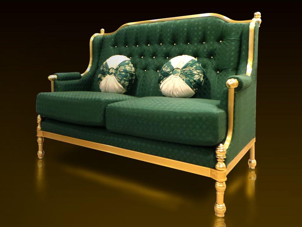 Royal Golden Aluminium Frame Luxury Classic Design Arabian Style Elegant Living Room Home Furniture Sofa Malaysia