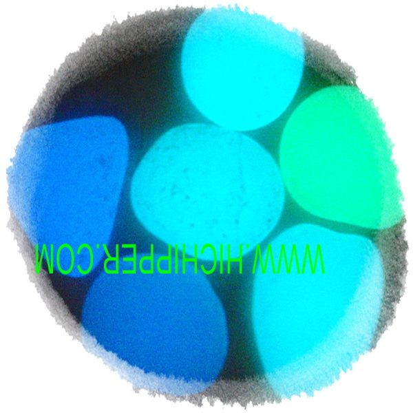 Crushed Colored glow glass pebbles glow  GAREN gravel
