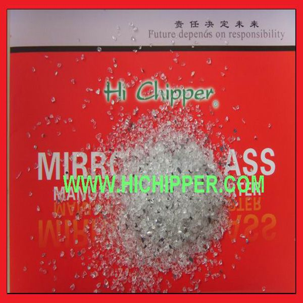 Crushed  decorative clear Glass Mirror granule for terrazzo