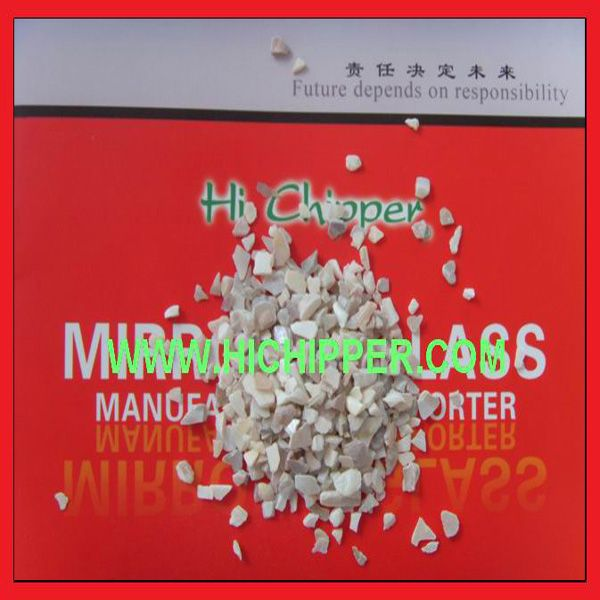 Crushed mirror glass chips as decorative materials for Engineered stone