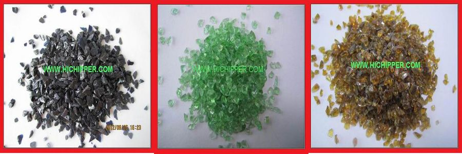 Decorative recycled crushed mirror glass chips