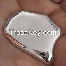 Silver And Red Metallic Liquid Mercury