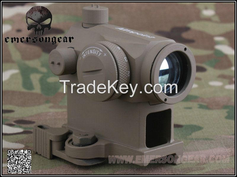 Emerson Airsoft Paintball Hunting Shooting Rifle Scope T1 Red Dot Scope and QD Mount