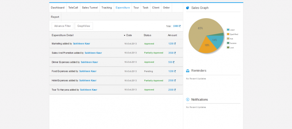 Teamberry CRM mobile application