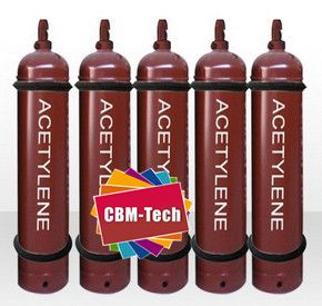 40L NEW AND EMPTY ACETYLENE CYLINDER