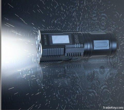 LCD screen l touch stepless dimming XM-L2 LED flashlight