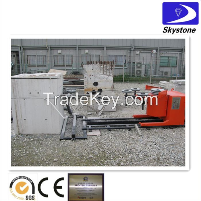 Diamond wires for heavy reinforced concrete cutting,