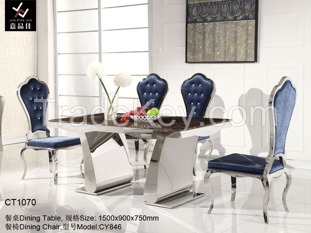 2014 Modern Stainless Steel Dining Table [CT1060]