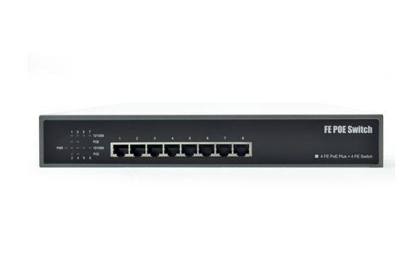 8-Port 10/100Mbps Desktop Switch with 4-Port PoE (NC-PUS081H)