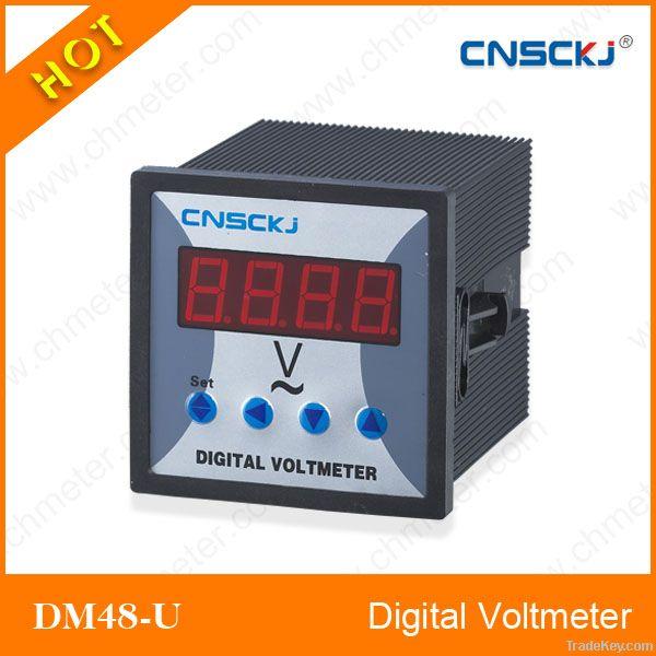 DM48-U Single Phase digital voltmeter ac voltmeter
