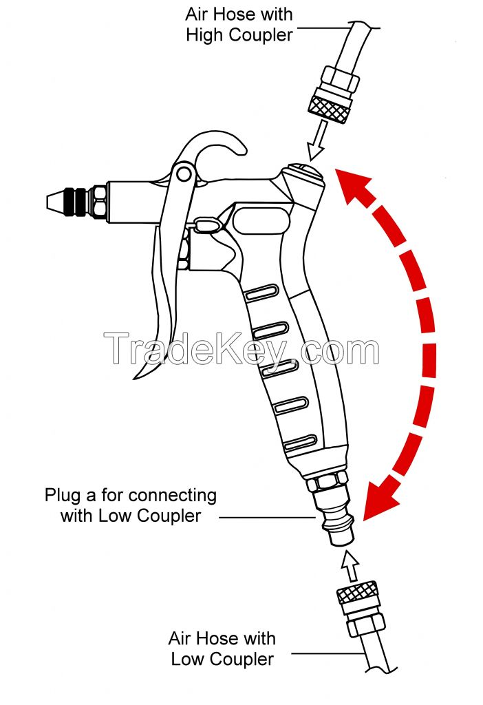 3 PCS Deluxe Blow Gun Kit