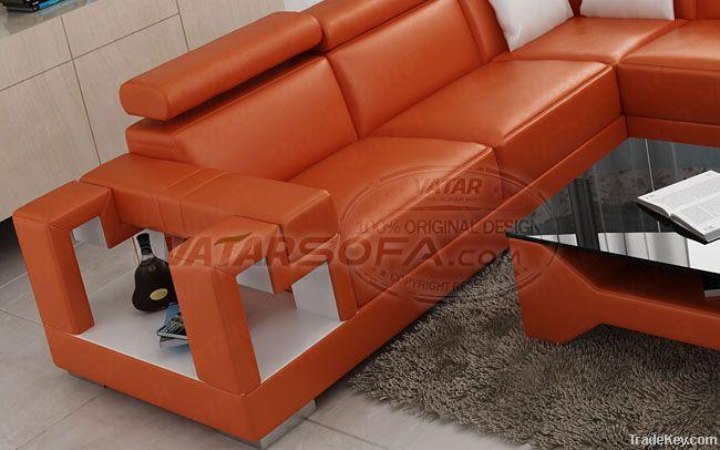 VATAR D1001 unique Elegant Leather sofa D1001