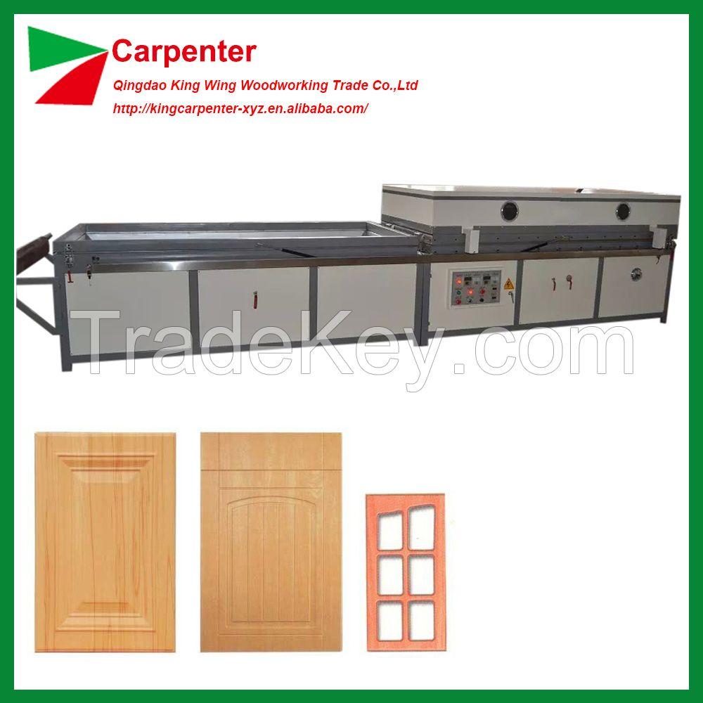 PVC skin MDF door coating Vacuum membrane press machine