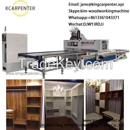 MDF board cabinets doors production line cnc router machine with ATC 8 tools best price