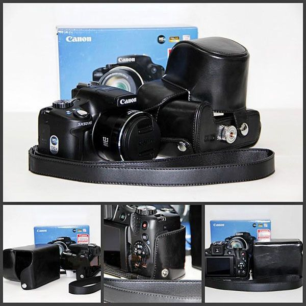 camera bags Leather Camera Case Bag for Canon Powershot Nikon samsung sony Coolpix