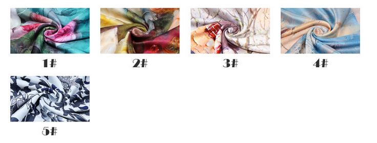 Chinese style silk button scarves