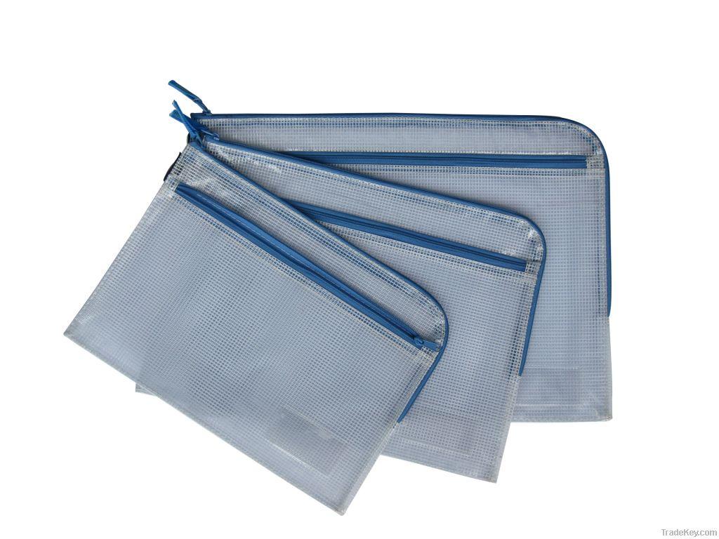 Double zipper 7-shape zipper bag