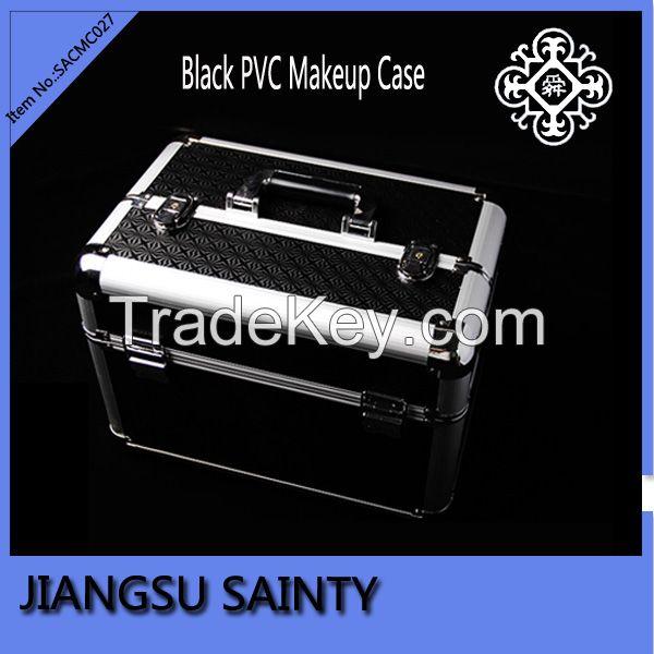 Three tier trays black hair stylist beauty cases