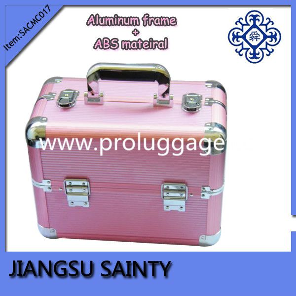 SACMC017 Striped ABS wholesale professional makeup cases empty