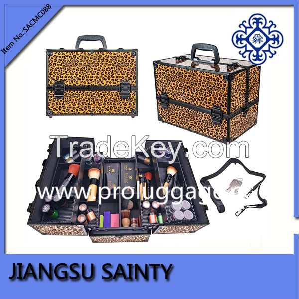 SACMC088 leopard printing aluminum professional make up case