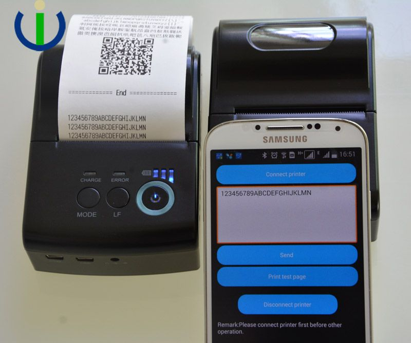 Hanheld Portable Printer 58mm Android Windows Bluetooth Thermal for Payment POS Ticketing